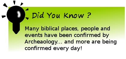 Did you know Bible places are confirmed by Archaeology?